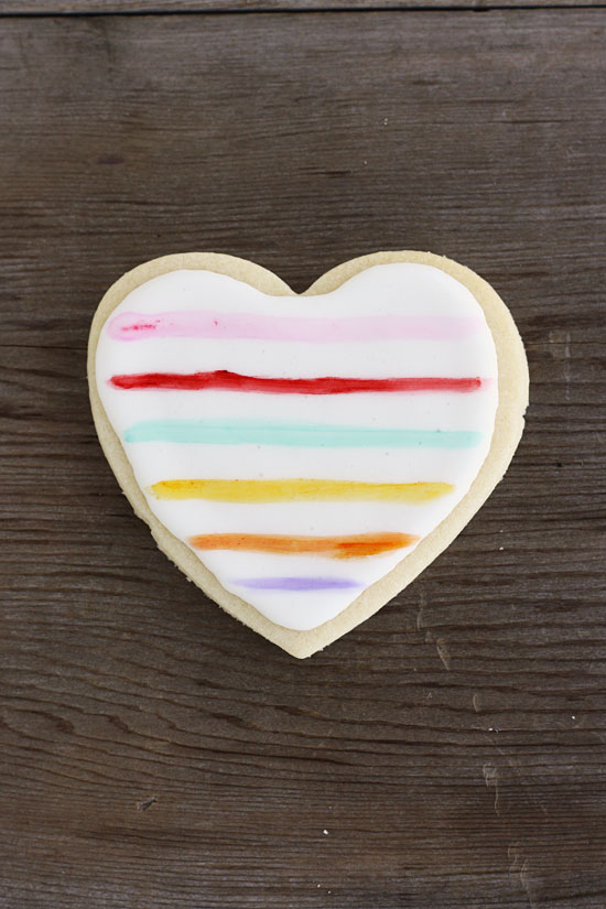 paint on royal icing sugar cookies valentines hearts