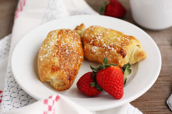 puff pastry chocolate croissants