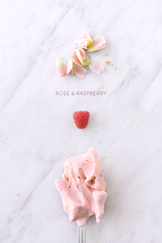 rosewater and raspberry ice cream