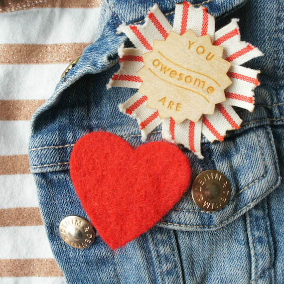 DIY: Quick and Easy Heart-Shaped Brooches