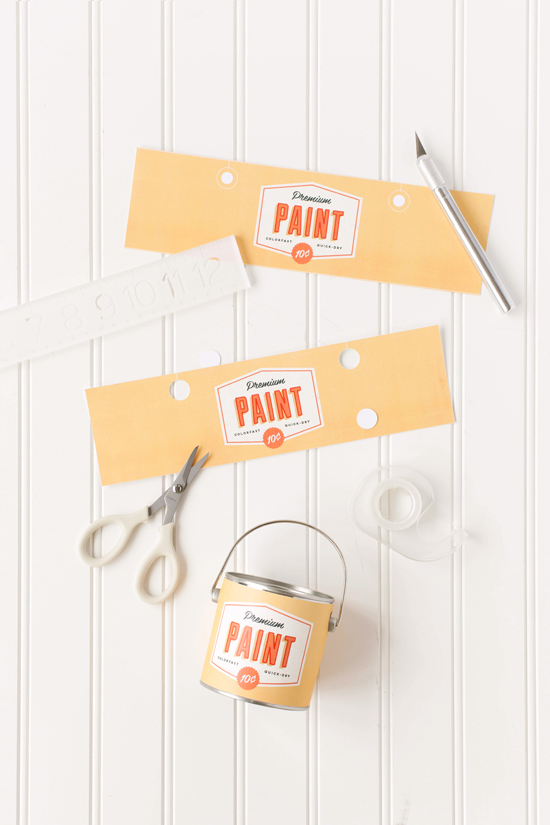 DIY Retro Paint Can Favors With Printable Julep