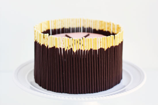 Cake Decorated With Chocolate Sticks : MelissaBahen Julep