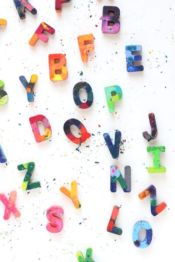 how to make letter crayons