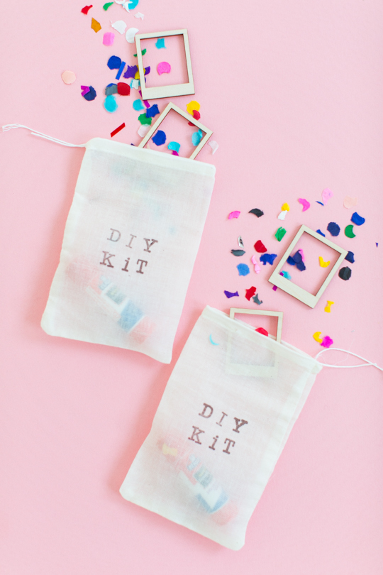 DIY kit favor bags