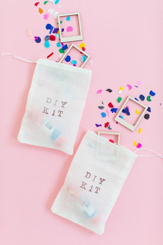 DIY kit favor bags