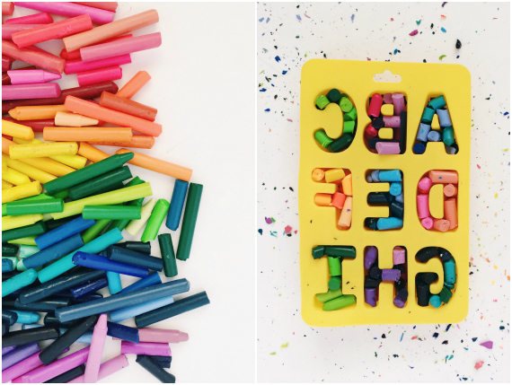 how to make alphabet crayons