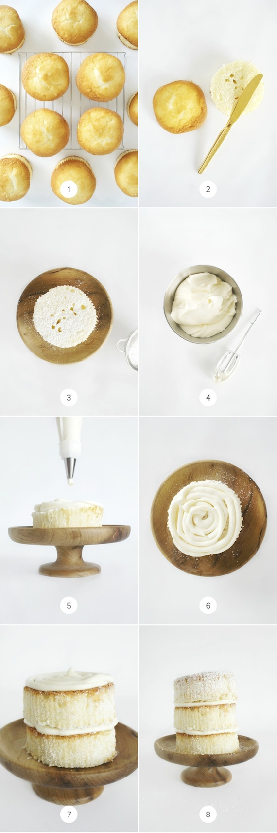 Diy How To Make Mini Naked Cakes Written By Brandy Brown