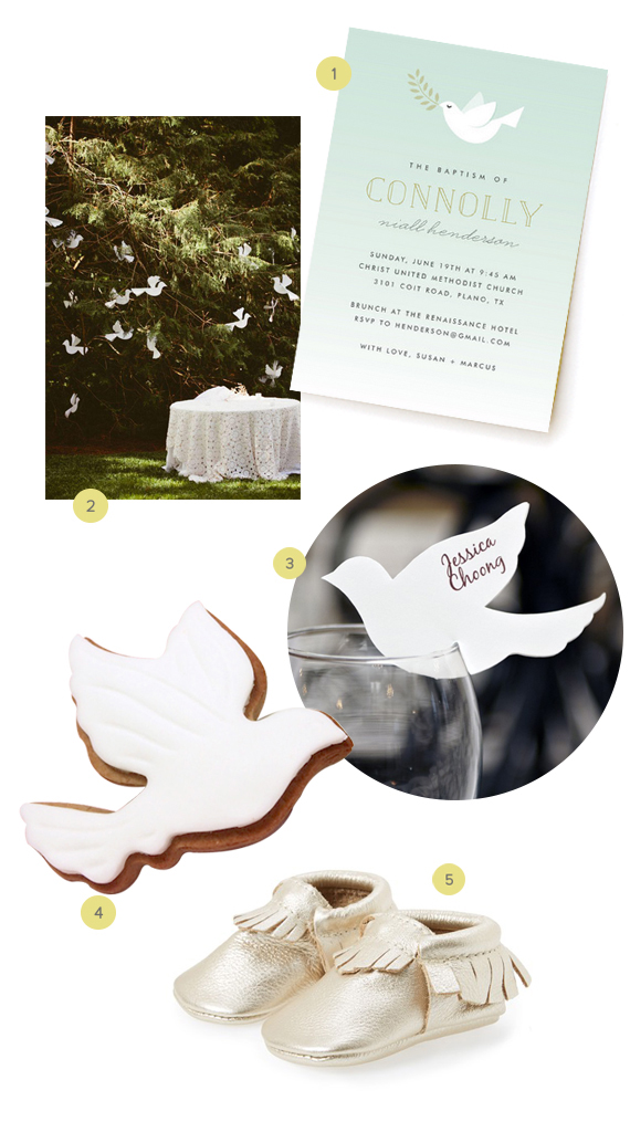 Baby Christening Ideas: Dove