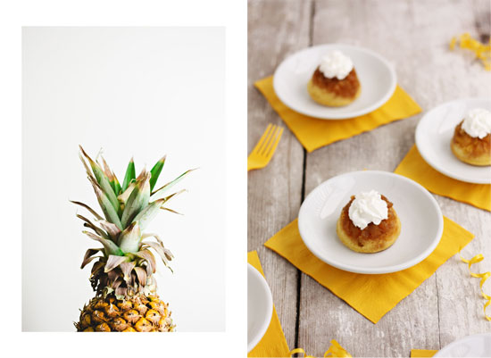 pineapple cake mini whipped cream cupcakes