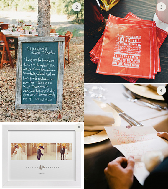 Creative ways to thank your wedding guests