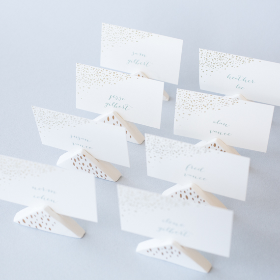 DIY Wedding Air-Dry Clay Place-Card Holders