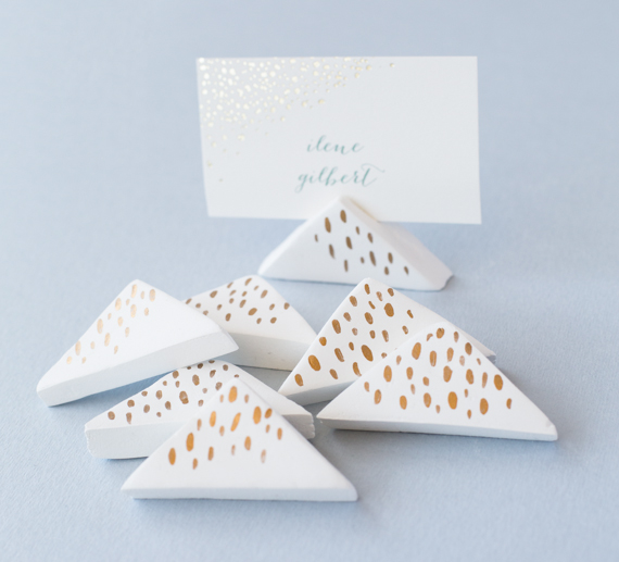 DIY Wedding Air-Dry Clay Place-Card Holders