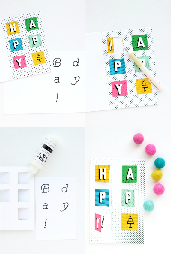 DIY PopUp Birthday Card with free printable – Pop-up Birthday Card Printable