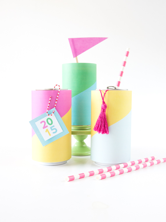 Colorful Soda Can Wrappers free printable | Julep TEST 4