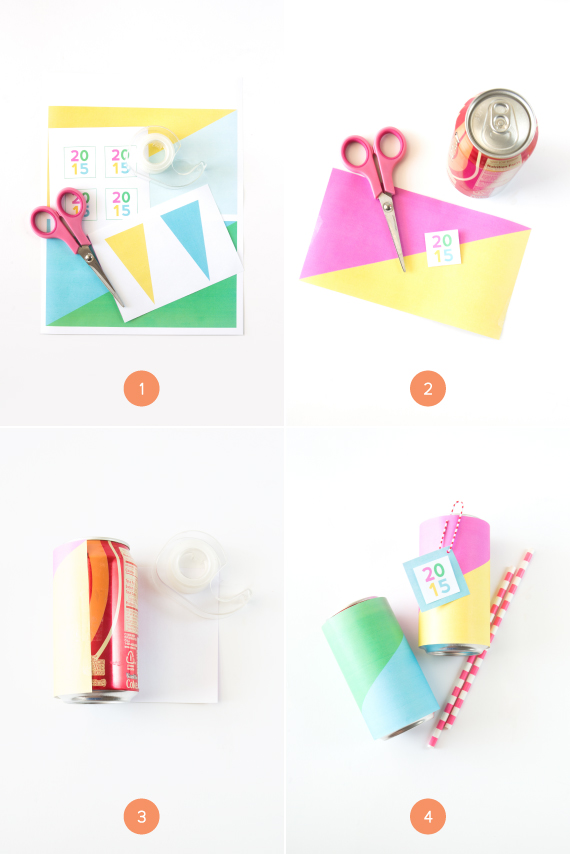 Colorful Soda Can Wrappers free printable | Julep TEST 1