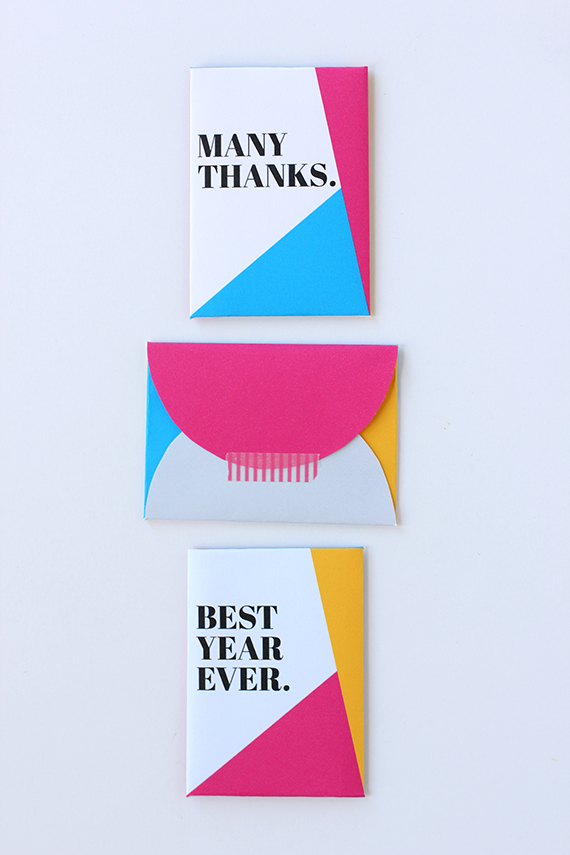 Diy: Gift-Card Envelope (Free Printable!) | Julep