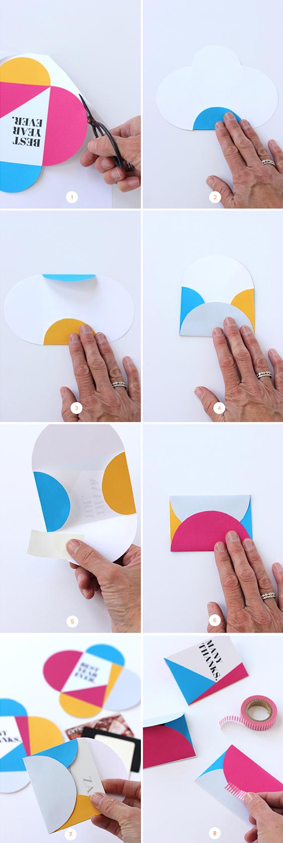 diy gift card envelope printable julep steps