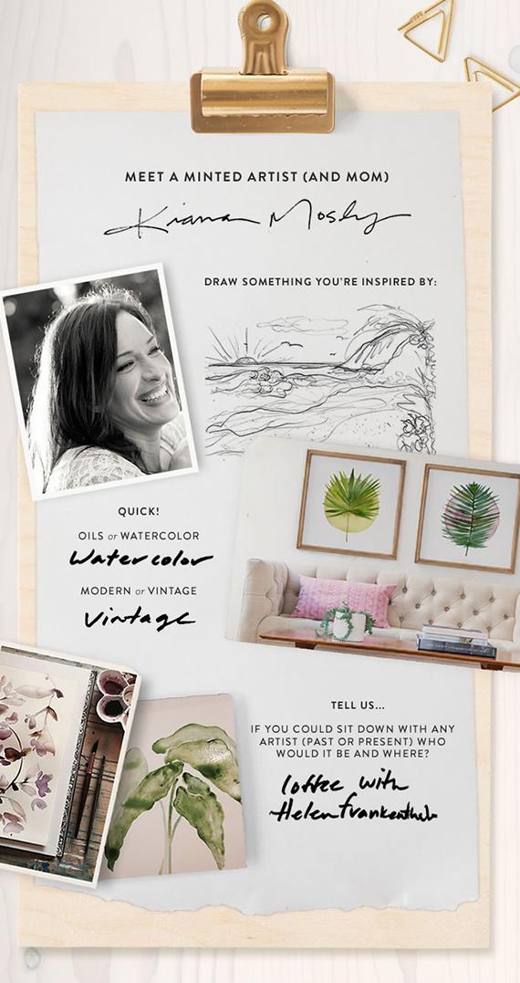 Minted Artist Q&A: Kiana Mosley