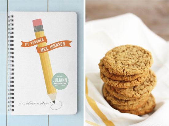 oatmeal cookies teacher thank you gift