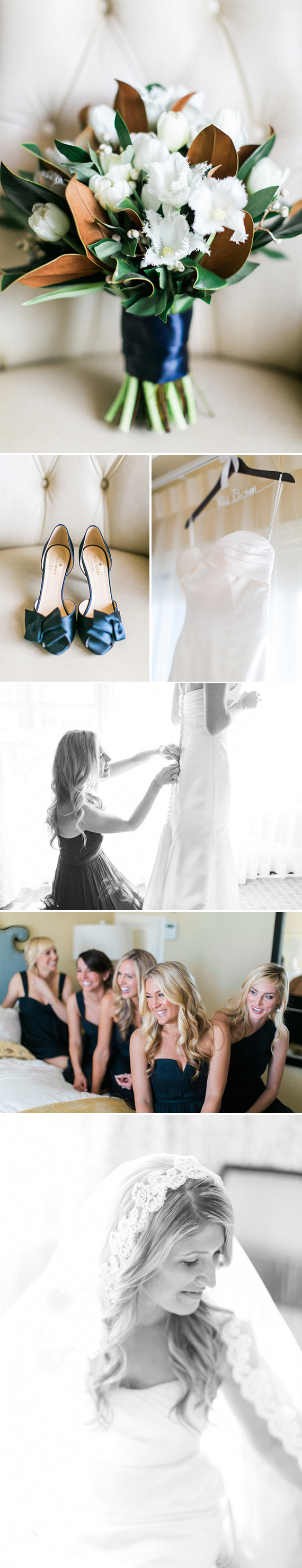 Minted Real Wedding | Classic Blue-and-White Beach Wedding | San Clemente, CA