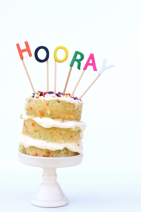 Diy Easy Alphabet Cake Toppers Julep