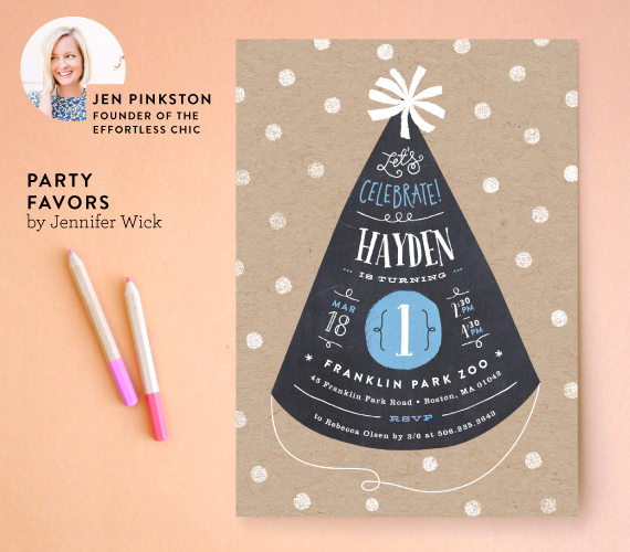 Special Prize: Jen Pinkston's favorite Minted children's birthday party invitation