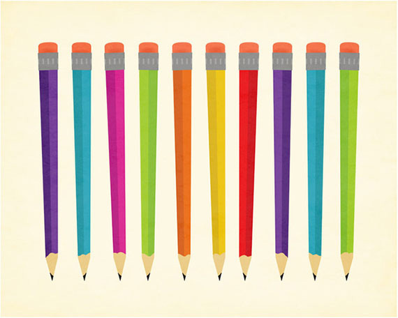 Mad About Pencils by Olive and Me Studios