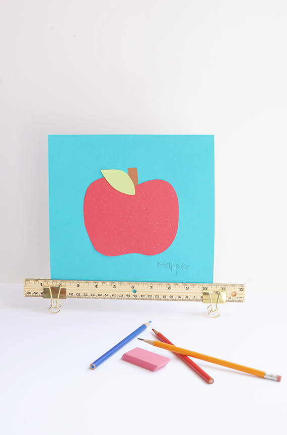 Make this cute and simple DIY ruler frame.
