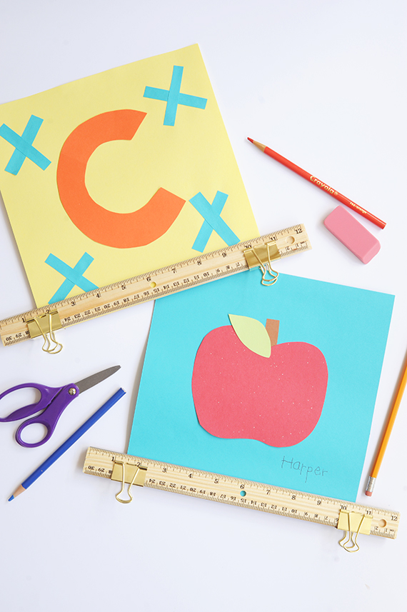 Perfect craft for back to school – make this simple DIY frame with rulers and binder clips.