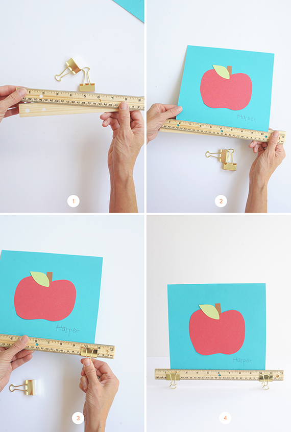 Make this super simple ruler clip frame for your kid's artwork.