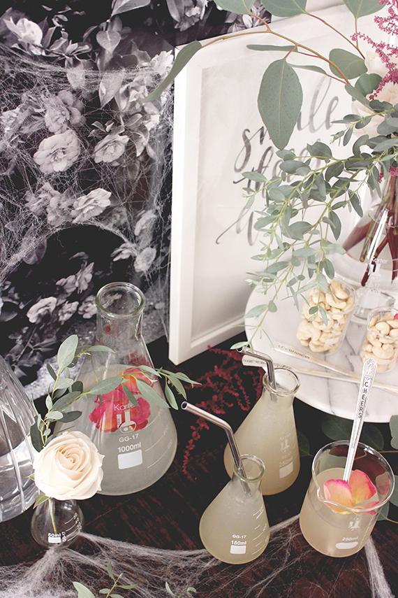 Beaker Flower Arrangements