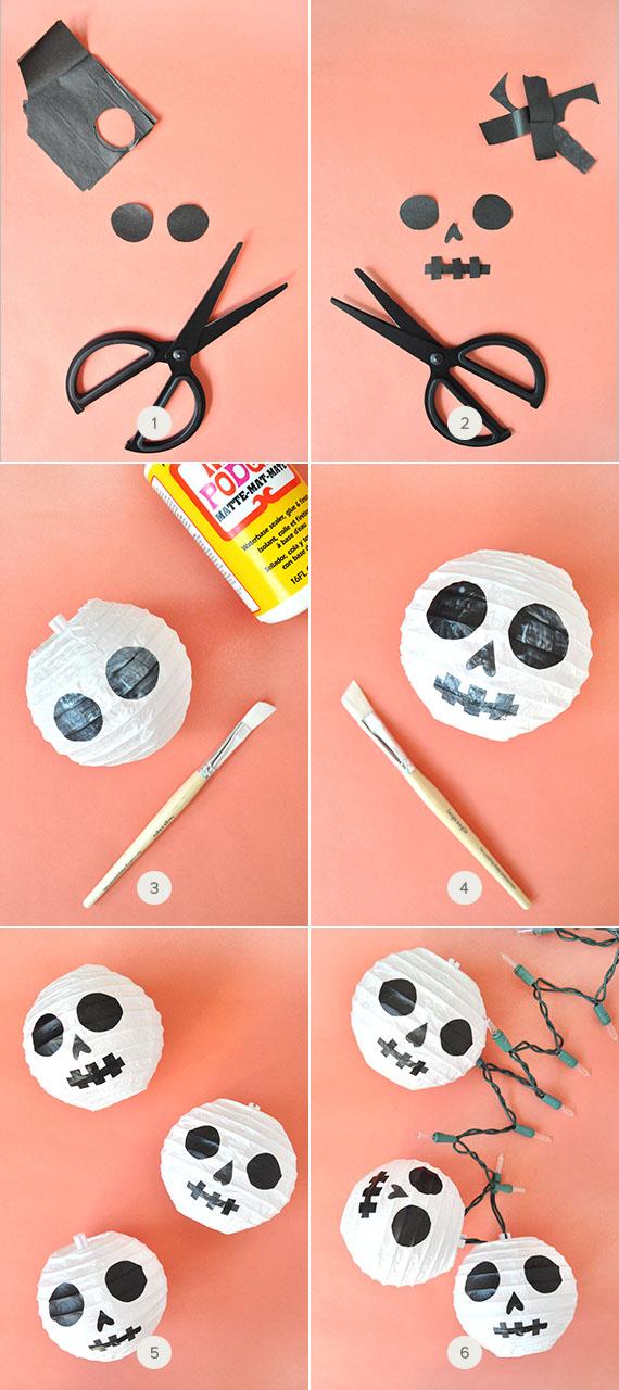 Paper Lantern Skulls
