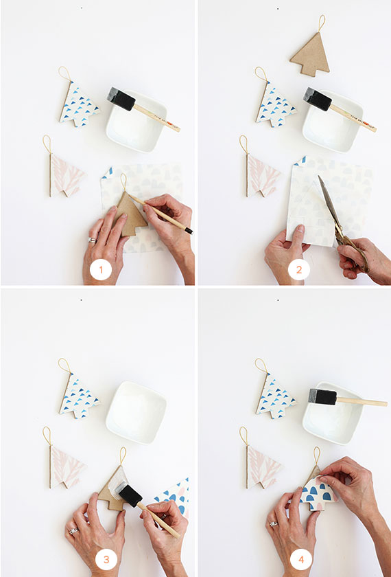 DIY Fabric-Covered Christmas Tree Ornaments