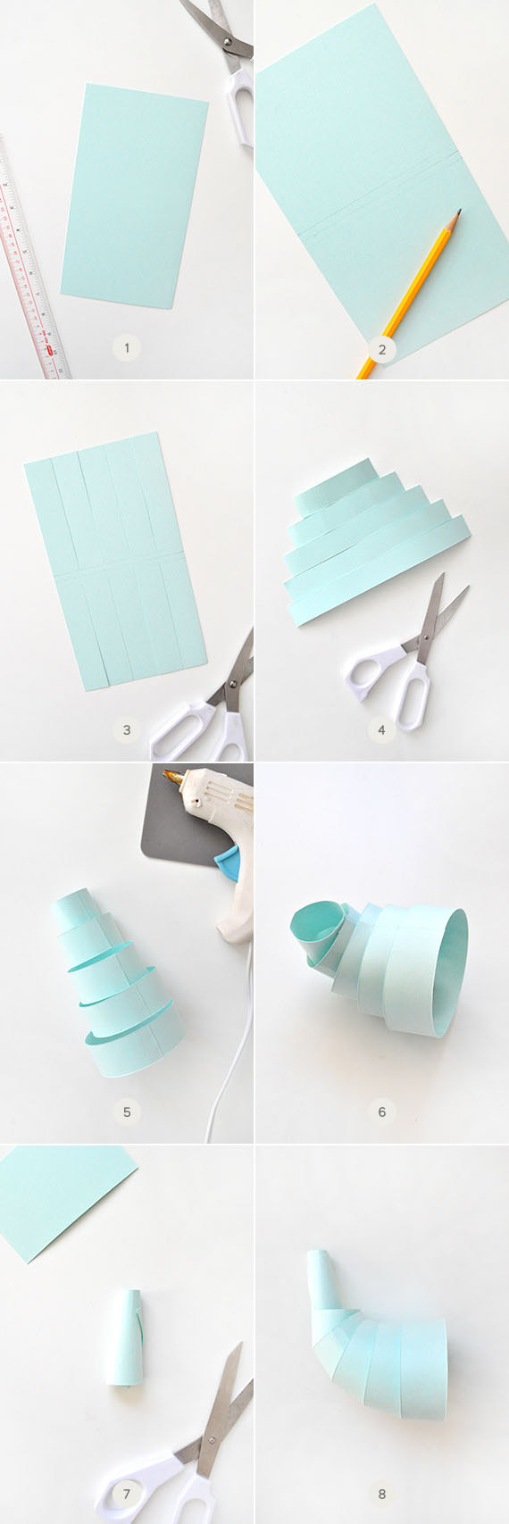DIY Paper Cornucopia with Candy