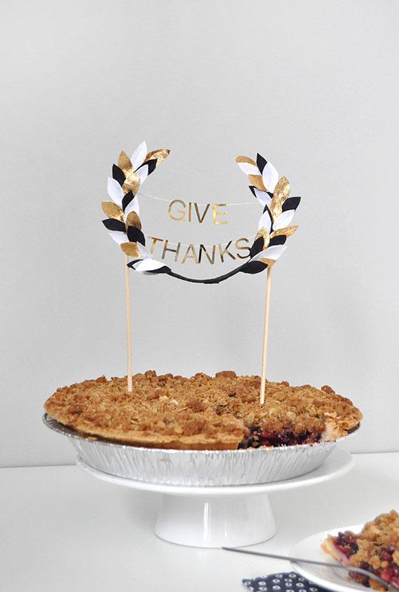 Thanksgiving Pie Topper