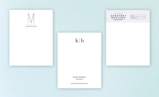 personal stationary design new branding visual identity and logo