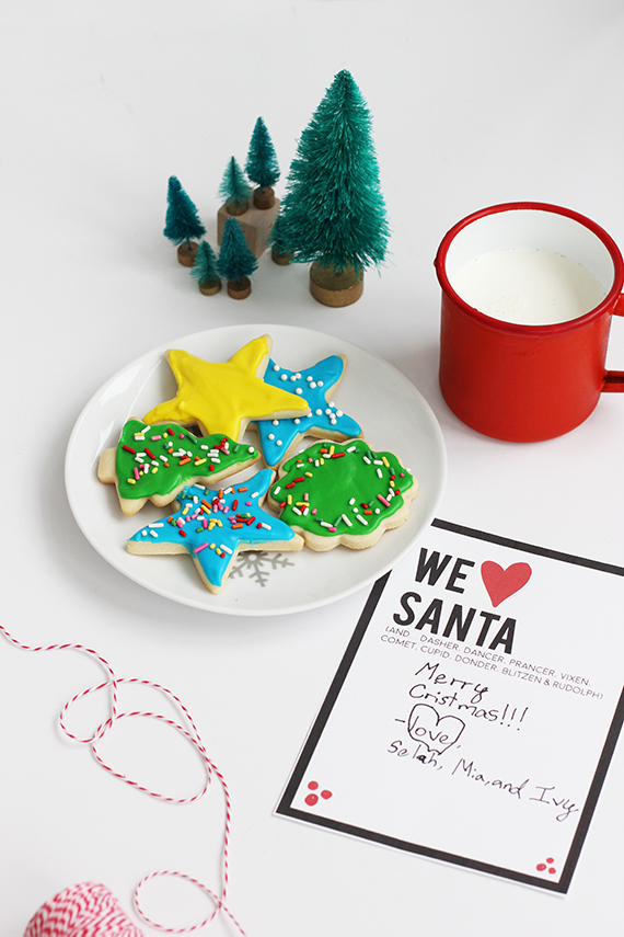 Cookies for Santa Free Printable by alice & lois for minted
