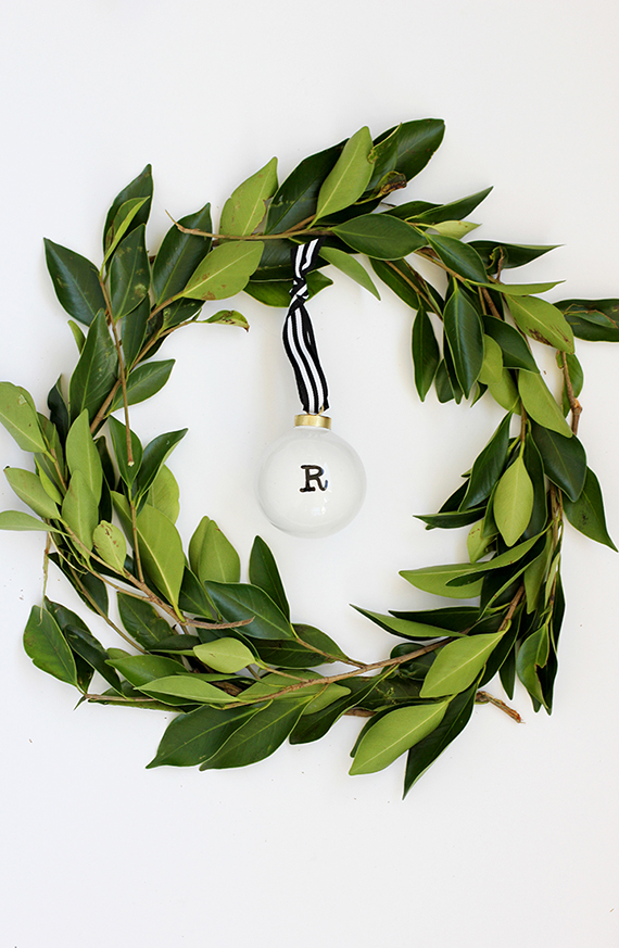 DIY Initial Ornament by alice & lois for minted