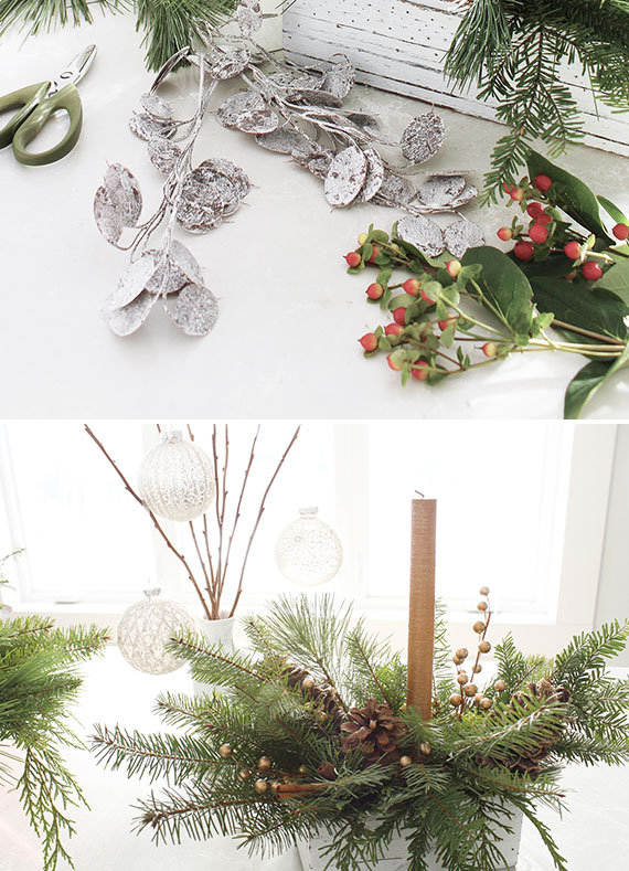 Christmas Greenery Centerpieces.How I Holiday Easy Christmas Greenery Centerpieces Julep
