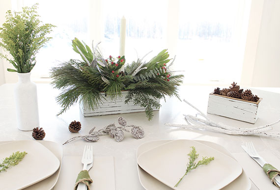 Greenery Centerpiece Diy : How i holiday easy christmas greenery centerpieces julep