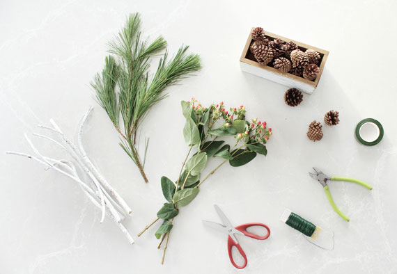 How i holiday easy christmas greenery centerpieces julep
