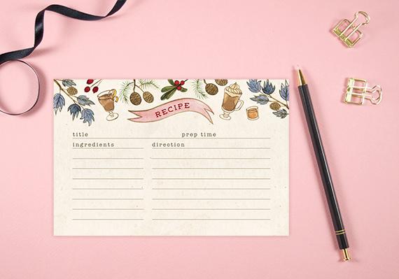 Free Printable: Holiday Recipe Card