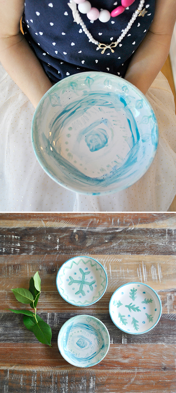 DIY Kids Pottery Painting