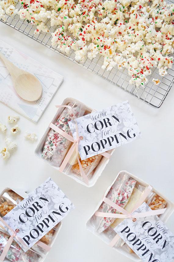 Popcorn Favors + Printable Tags