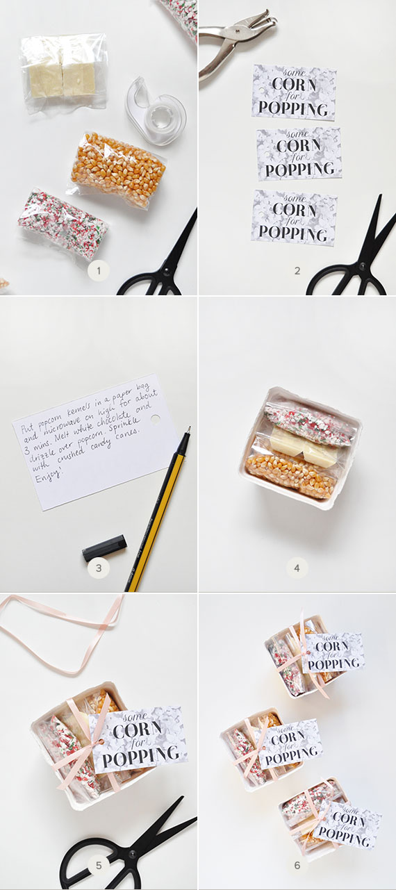 Popcorn Favors + Printable Tags
