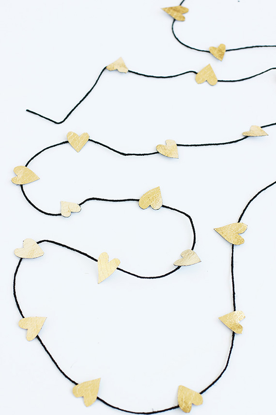 DIY Gold Heart Garland | alice & lois for minted Julep