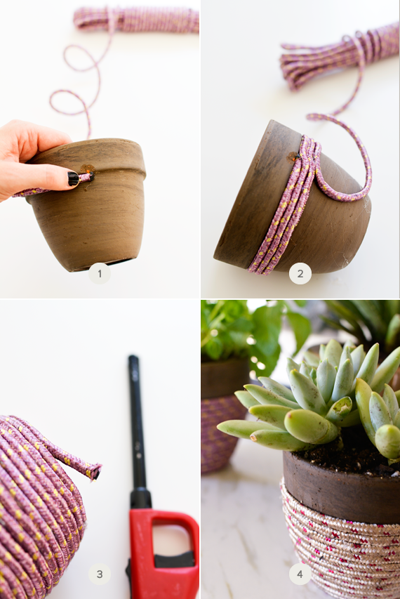 Simple steps to make a DIY rope planter for your home.
