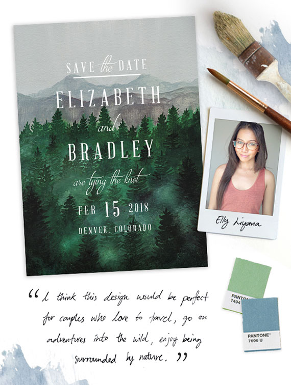 Woodland Save the Date Design Minted