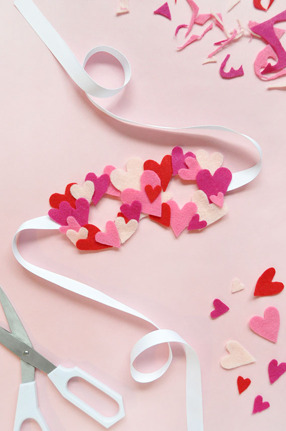 DIY Felt Heart Mask