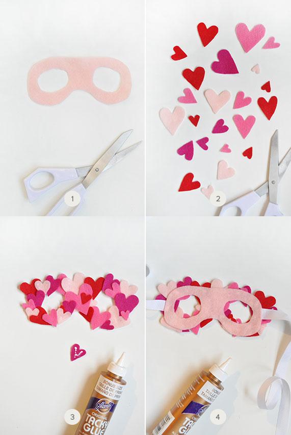DIY Felt Heart Mask